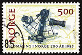 Postage stamp Norway 1985 Sextant and Chart, 1791 — Stock Photo