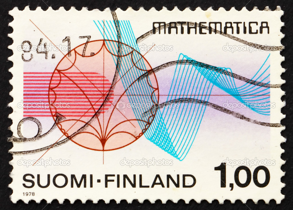 FINLAND - CIRCA 1978: a stamp printed in the Finland shows Function Theory and Rhythmical Lines, International Congress of Mathematicians, Helsinki, circa 1978 — Stock Photo #9072503