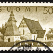 Postage stamp Finland 1956 Church at Lammi — ストック写真 #9116246