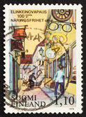 Postage stamp Finland 1979 Shops and Merchants' Signs — Stock Photo