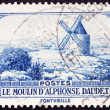 Postage stamp France 1936 Windmill at Fontvielle, Alphonse Daude - Stock Photo