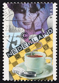 Postage stamp Netherlands 1986 Checkers, Board Game — Stock Photo