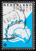 Postage stamp Netherlands 1982 Enkhuizen, Fortification Layout — Stock Photo
