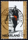 Postage stamp Netherlands 1987 Princess Juliana and Prince Bernh — Stock Photo
