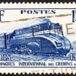 Postage stamp France 1937 Streamlined Locomotive — Stock Photo
