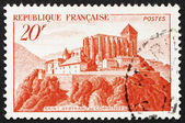 Postage stamp France 1933 Abbey of St. Bertrand de Comminges — Stock Photo
