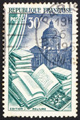 Postage stamp France 1954 Books, Book Manufacture — Stock Photo