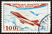 Postage stamp France 1954 Jet Plane, Mystere IV — Stock Photo