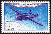 邮资邮票法国 1960年飞机诺拉特拉斯 — 图库照片