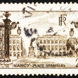Postage stamp France 1946 Stanislas Square, Nancy — ストック写真