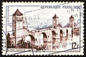 Postage stamp France 1955 Valentre Bridge, Cahors — Stock Photo