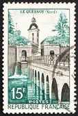 Postage stamp France 1957 Le Quesnoy Bridge — Stock Photo