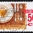 Postage stamp Netherlands 1985 Place setting — Stock Photo #9231274