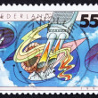 Postage stamp Netherlands 1991 Air Pollution — Stock Photo #9231395