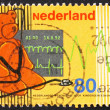 Postage stamp Netherlands 1992 Teddy Bear and Stethoscope, Cardi — Stock Photo #9231560
