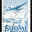 Postage stamp Finland 1963 Plane Douglas DC-6 - Stock Photo
