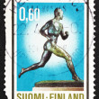 Postage stamp Finland 1973 Paavo Nurmi, Runner - Stock Photo