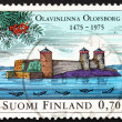 Postage stamp Finland 1975 Olavinlinna Castle — Stock Photo