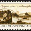 Postage stamp Finland 1979 View of Tampere - Stock Photo