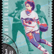 Postage stamp Finland 1995 Lea Hakala, Basketball - Stock Photo