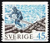 Znaczek szwecja 1970 dziennika rolki — Zdjęcie stockowe