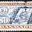 Postage stamp Denmark 1974 Compass, Orienteering — Stock Photo