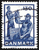 Postage stamp Denmark 1976 Glass Cut off from Foot — Stock Photo