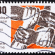 Stock Photo: Postage stamp France 1982 Fight against Racism