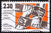 Postage stamp France 1982 Fight against Racism — Stock Photo
