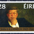 Postage stamp Ireland 1988 John F. Kennedy - Stock Photo