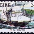 Stock Photo: Postage stamp Ireland 1986 Steamer Severn, 1836