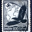 Postage stamp Germany 1934 SwastikSun, Globe and Eagle — Stock Photo #9375809