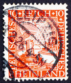 Postage stamp Germany 1925 German Eagle Watching Rhine Valley — Stock Photo