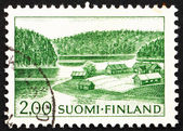 Znaczek finlandia 1964 gospodarstwa na brzegu jeziora — Zdjęcie stockowe