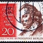 Постер, плакат: Postage stamp Germany 1959 Friedrich von Schiller