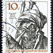 Postage stamp Germany 1971 Bagpipe Player by Durer - Zdjęcie stockowe