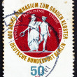Stock Photo: Postage stamp Germany 1974 School Seal Showing Athenand Hermes