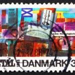 Postage stamp Denmark 1988 Glass Mosaic by Niels Winkel — Stock Photo