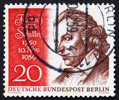 Postage stamp Germany 1959 Friedrich von Schiller — Stock Photo
