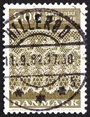 Postzegel denemarken 1980 tonder kantpatroon — Stockfoto