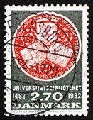 Timbre-poste danemark 1982 étanche de la bibliothèque de l'université, copenhague — Photo