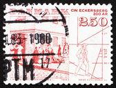 Postage stamp Denmark 1983 Street Scene by C. W. Eckersberg — Stock Photo