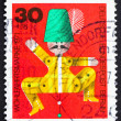 Stock Photo: Postage stamp Germany 1971 Jumping Jack, Wooden Toy