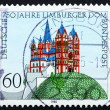 Postage stamp Germany 1985 Cathedral, Limburg - Stock fotografie