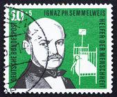 Timbre-poste allemagne 1956 ignaz philipp semmelweis — Photo