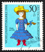 Postage stamp Germany 1968 Doll from 19th Century — Stock Photo