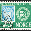 Postage stamp Norway 1955 Stamp Reproduction of Norway No.1 Stam — Stock Photo