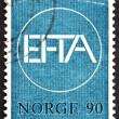 Postage stamp Norway 1967 EFTA Emblem - ストック写真