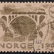 Stock Photo: Postage stamp Norway 1979 Kylling Bridge, Verma