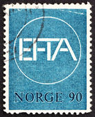 Postage stamp Norway 1967 EFTA Emblem — Stock Photo
